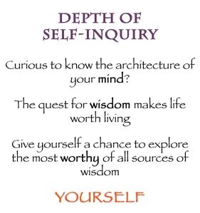 web depth of self inquiry